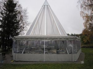 Alfa Bil & Båt Sadelmakeri - Uteservering - Tält - Tevsjö Destilleri